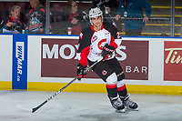 KELOWNA, CANADA - OCTOBER 28: Kody McDonald #26 of the Prince George Cougars warms up against the Kelowna Rockets on October 28, 2017 at Prospera Place in Kelowna, British Columbia, Canada.  (Photo by Marissa Baecker/Shoot the Breeze)  *** Local Caption ***