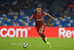 NAPLES, ITALY - Tuesday, September 17, 2019: Liverpool's Joel Matip during the UEFA Champions League Group E match between SSC Napoli and Liverpool FC at the Studio San Paolo. (Pic by David Rawcliffe/Propaganda)