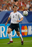 Photo: Glyn Thomas.<br />England v Portugal. Quarter Finals, FIFA World Cup 2006. 01/07/2006.<br /> England's Gary Neville.