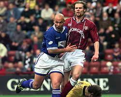 GEORGE O'BOYLE & STEVEN PRESSLEY, HEARTS V ST JOHNSTONE..©2010 Michael Schofield. All Rights Reserved.