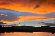 SUnset on Sushwap Lake<br /> Blind Bay<br /> British Columbia<br /> Canada