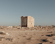A pre-war ruin in the desert south of El Alamein.