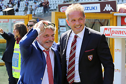 September 17, 2017 - Turin, Piedmont, Italy - Massimo Ferrero, president of US Sampdoria (L) and Sinisa Mihajlovic (R), head coach of Torino FC before the Serie A football match between Torino FC and US Sampdoria at Olympic Grande Torino Stadium on 17 September, 2017 in Turin, Italy. (Credit Image: © Massimiliano Ferraro/NurPhoto via ZUMA Press)