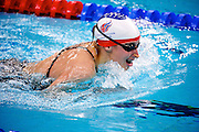 Nyree Lewis of Great Britain in The National Aquatics Centre in the women's 100 metre breaststroke SB% Final at the Paralympic games, Beijing, China. 12th September 2008