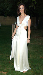 GEORGINA CHAPMAN at the annual Serpentine Gallery Summer Party co-hosted by Jimmy Choo shoes held at the Serpentine Gallery, Kensington Gardens, London on 30th June 2005.<br />