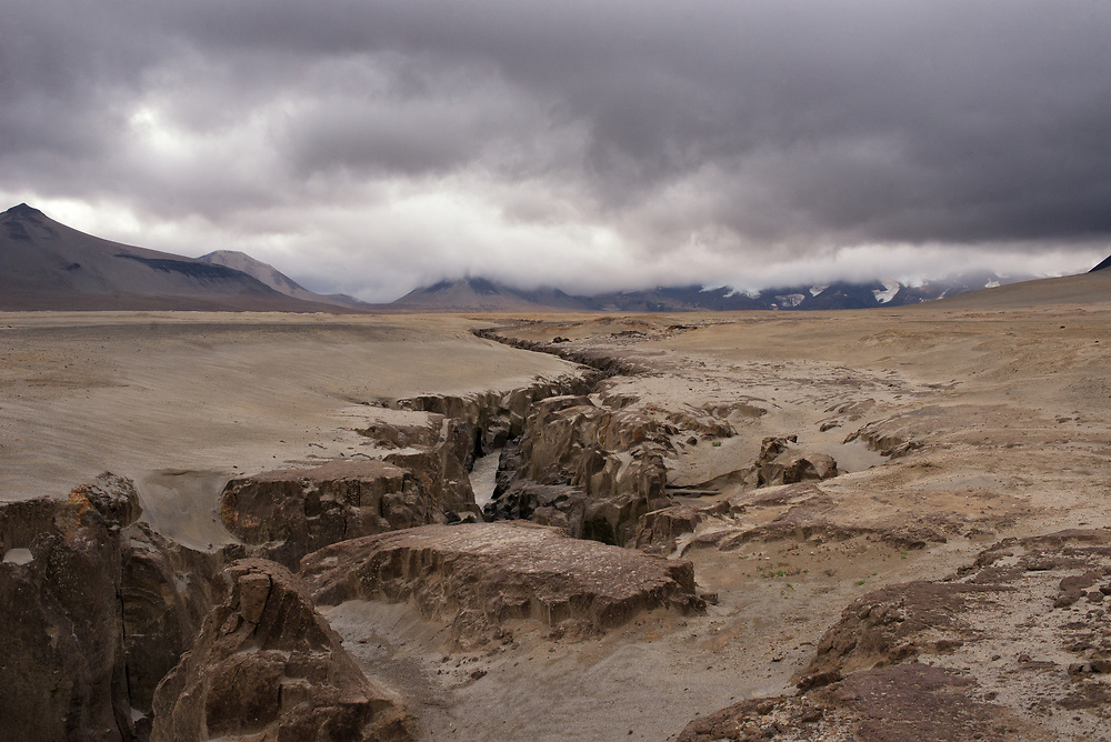 The Lethe River cuts through volcanic ash from the June 6, 1912 Novarupta Volcano. The Valley of Ten Thousand Smokes, Alaska.