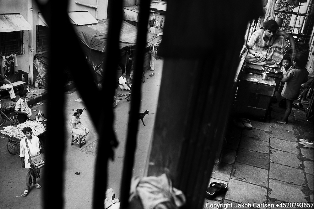 The red light district in Mumbai, India. Most girls working as prostitutes are Untouchables.