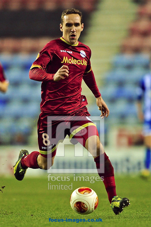 Picture by Ian Wadkins/Focus Images Ltd +44 7877 568959<br /> 28/11/2013<br /> Thorgan Hazard of Zulte Waregem during the UEFA Europa League match at the DW Stadium, Wigan.