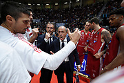 time out ,  Messina Ettore , <br /> Legabasket Serie A 2019-2020<br /> 11° Giornata - Andata - 01/12/2019 <br /> Dolomiti Energia Trentino-Happy Casa 78-67 <br /> Trento BLM Group Arena30/11/2019 <br /> Foto GiulioCiamillo/Ciamillo