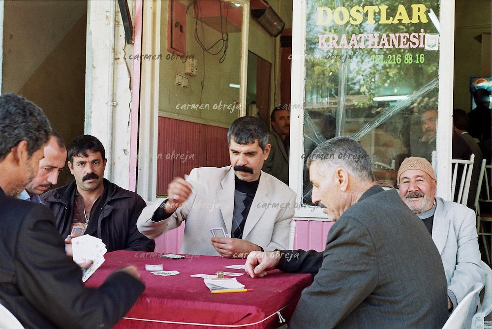 men playing cards at local pub in Sanliurfa