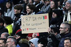 November 27, 2018 - Turin, Piedmont, Italy - A fan of Cristiano Ronaldo during the UEFA Champions League match between Juventus FC and Valencia CF, at Allianz Stadium on November 27, 2018 in Turin, Italy. .Juventus won 1-0 over Valencia. (Credit Image: © Massimiliano Ferraro/NurPhoto via ZUMA Press)