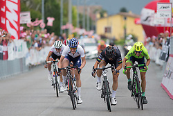 Giorgia Bronzini (ITA) of Wiggle Hi5 Cycling Team (middle) wins the Giro Rosa 2016 - Stage 1. A 104 km road race from Gaiarine to San Fior, Italy on July 2nd 2016.