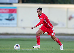 ORHEI, MOLDOVA - Friday, October 11, 2019: Wales' Benjamin Cabango during the UEFA Under-21 Championship Italy 2019 Qualifying Group 9 match between Moldova and Wales at the Orhei District Sports Complex. (Pic by Kunjan Malde/Propaganda)