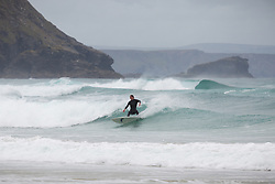 © Licensed to London News Pictures. 04/05/2015. Porthtowan, Cornwall, UK. Surfers enjoying the weather conditions on Porthtowan Beach in Cornwall today, Bank Holiday Monday, 4th May 2015. Photo credit : Rob Arnold/LNP