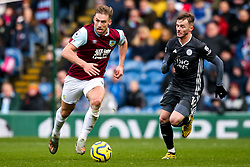Charlie Taylor of Burnley takes on James Maddison of Leicester City - Mandatory by-line: Robbie Stephenson/JMP - 19/01/2020 - FOOTBALL - Turf Moor - Burnley, England - Burnley v Leicester City - Premier League
