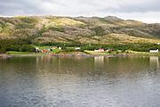 Rural coastal farming landscape near Rorvik, Norway