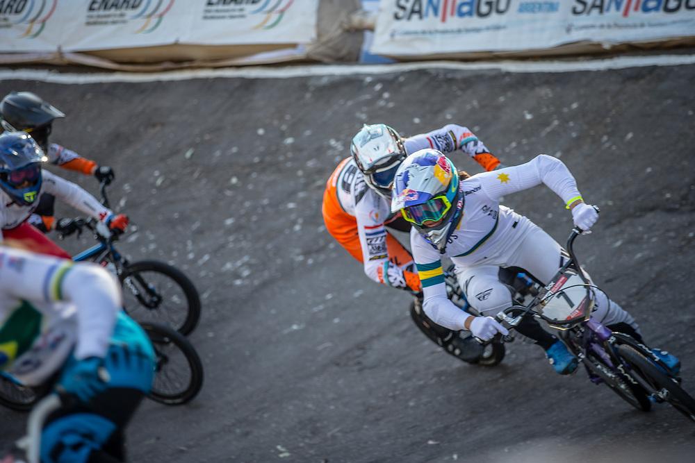 #7 (SAKAKIBARA Saya) AUS  at Round 9 of the 2019 UCI BMX Supercross World Cup in Santiago del Estero, Argentina