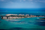 Aerial view of Fisher Island.