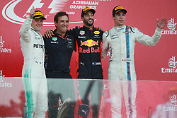 June 25, 2017 - Baku, Azerbaijan - Motorsports: FIA Formula One World Championship 2017, Grand Prix of Europe, .#77 Valtteri Bottas (FIN, Mercedes AMG Petronas)#3 Daniel Ricciardo (AUS, Red Bull Racing), #18 Lance Stroll ( CAN, Williams Martini Racing) (Credit Image: © Hoch Zwei via ZUMA Wire)