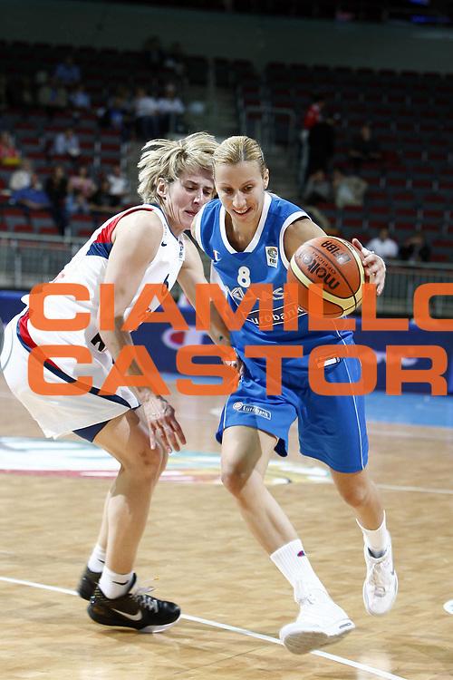 DESCRIZIONE : Riga Latvia Lettonia Eurobasket Women 2009 Quarter Final Francia Grecia France Greece<br /> GIOCATORE : Styliani Kaltsidou<br /> SQUADRA : Grecia Greece<br /> EVENTO : Eurobasket Women 2009 Campionati Europei Donne 2009 <br /> GARA : Francia Grecia France Greece<br /> DATA : 18/06/2009 <br /> CATEGORIA : palleggio<br /> SPORT : Pallacanestro <br /> AUTORE : Agenzia Ciamillo-Castoria/E.Castoria<br /> Galleria : Eurobasket Women 2009 <br /> Fotonotizia : Riga Latvia Lettonia Eurobasket Women 2009 Quarter Final Francia Grecia France Greece<br /> Predefinita :