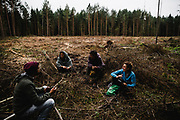 Every day activists go for a documentary patrols to find logging scenes. Later they send data to the EU tribunal of justice as an evidence in case against Poland.