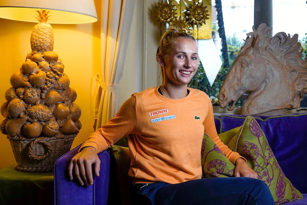 Jil Belen Teichmann, n&eacute;e le 15 juillet 1997 &agrave; Barcelone,  joueuse de tennis suisse professionnelle depuis 2014.<br /> Lugano avril 2018<br /> &copy; Nicolas Righetti /Lundi13.ch
