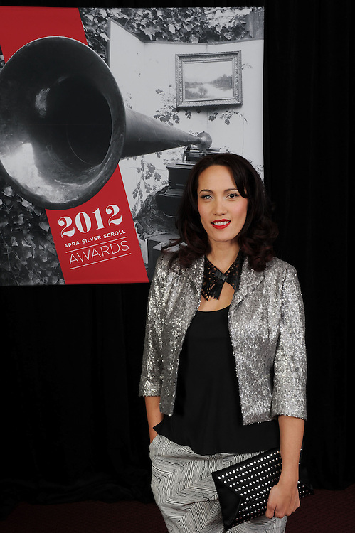Ria Hall, finalist of the APRA Maioha Award, at the APRA Silver Scrolls Awards 2012. Auckland Town Hall. 13 September 2012.