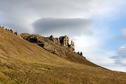 Stone formation, Snaefellnes Peninsula, Iceland