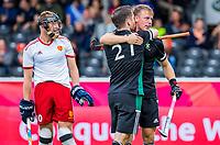 ANTWERP - BELFIUS EUROHOCKEY Championship.   England v Wales (2-2)  men .Gareth Furlong (Wales) scored left Jonathan Gooch (Wales) and Christopher Griffiths (Eng) . WSP/ KOEN SUYK