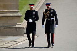Prince Harry (left) arrives with his best man, the Duke of Cambridge at St George's Chapel in Windsor Castle for his wedding to Meghan Markle.