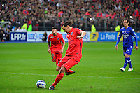 Penalty Zlatan IBRAHIMOVIC - 11.04.2015 -  Bastia / PSG - Finale de la Coupe de la Ligue 2015<br />Photo : Dave Winter / Icon Sport