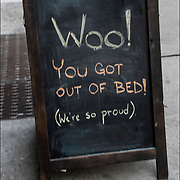 Coffee Blackboard humorous  outdoor sign. <br />