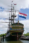 Museum sailing ship Amsterdam.