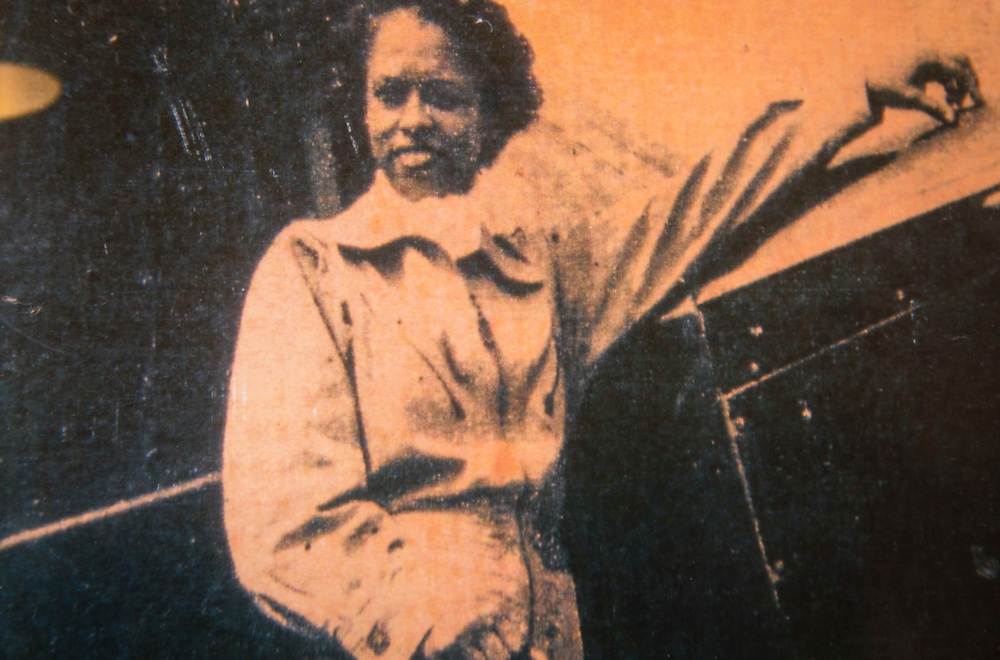 Historic photograph circa 1946 of pioneering pilot Azellia White,103, at her home in Sunnyside, February 24, 2017.