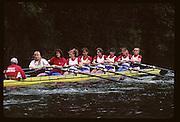 Molesey, Great Britain.  GBR W8+,  Bow, Kareen MARWICK, Philippa CROSS, Fiona FRECKLETON, Rachel HIRST, Dot BLACKIE , Katharine BROWNLOW , Philippa CROSS, Kate GROSE , Rachel HIRST, Sue SMITH, stroke Katherine BROWNLOW and cox Alison PANERSON (c)1992 British International Rowinig Training on the Molesey Reach, Surrey,  [Mandatory Credit. Peter Spurrier/Intersport Images] +1992 +Molesey +Henley 1992 GBRowing Training, Molesey/Henley, United Kingdom