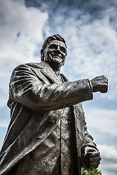 © Licensed to London News Pictures. 04/08/2015. Leeds, UK. Stock photo shows Don Revie of Leeds United football club. Leeds United fans are the most vocal on Twitter out of all 92 English professional clubs, a new study has found. Supporters averaged 7.7 tweets per fan over the last six months, according to the Crowdscores research, with fellow Championship side Middlesbrough in second place with 6.6 tweets. The study looked at fans' interaction with their club's official Twitter accounts. Photo credit : Andrew McCaren/LNP
