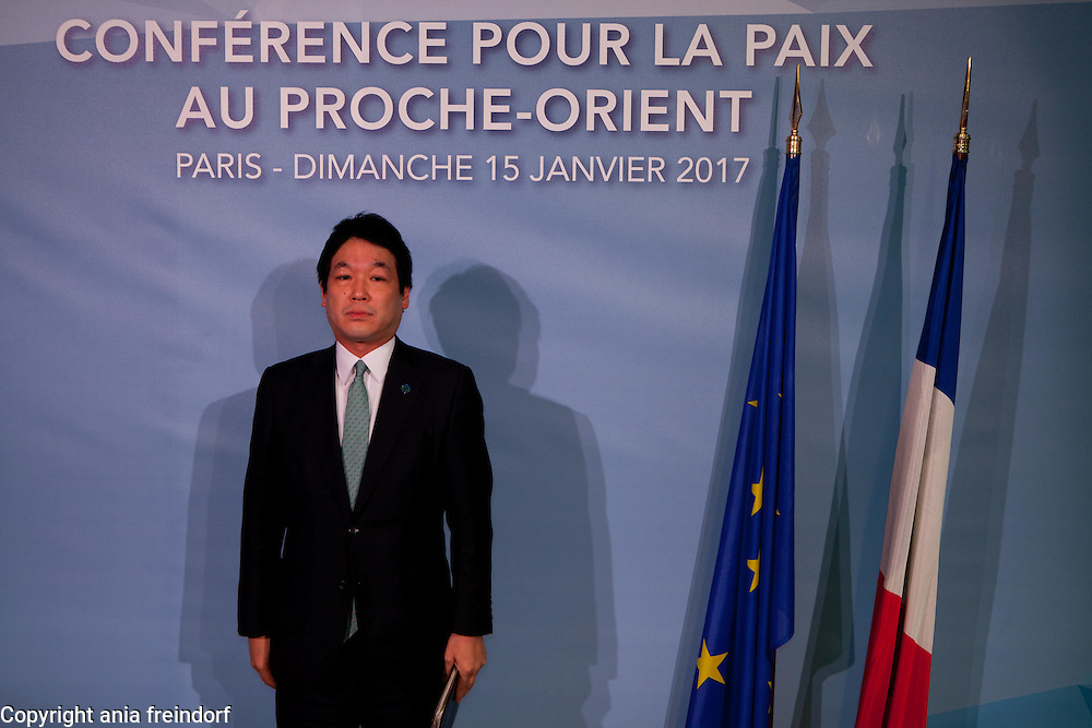 Middle East Peace Conference, Paris, France. International summit. 7O countries have participated in the summit. Japan, Kentaro Sonoura, Deputy Minister of Foreign Affairs