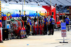 February 22, 2019 - Hampton, GA, U.S. - HAMPTON, GA - FEBRUARY 22: Sunoco team members fill the fuel cans prior to first practice for the MENCS Folds of Honor QuikTrip 500 race on February 22, 2019 at the Atlanta Motor Speedway in Hampton, GA.  (Photo by David John Griffin/Icon Sportswire) (Credit Image: © David J. Griffin/Icon SMI via ZUMA Press)