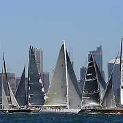 Yacht's in action during the Solas Big Boat Challenge on Sydney Harbour on December 16, 2008 in Sydney, Australia. The race conducted in the waters around Sydney Harbour, is a preliminary tournament to the Rolex Sydney Hobart Yacht race 2008 which will start of Boxing Day, December 26th. Photo Tim Clayton.