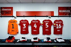 A general view of the Bristol City Changing room at Derby County - Mandatory by-line: Robbie Stephenson/JMP - 22/12/2018 - FOOTBALL - Pride Park Stadium - Derby, England - Derby County v Bristol City - Sky Bet Championship