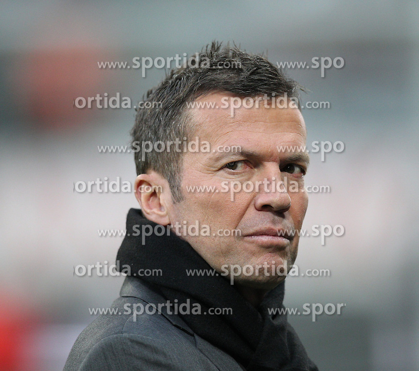 21.04.2015, Allianz Arena, Muenchen, GER, UEFA CL, FC Bayern Muenchen vs FC Porto, im Bild Lothar Matthaeus (Fussballexperte) schaut grimmig // during the UEFA Semi Final 2nd Leg Match between FC Bayern Munich and FC Porto at the Allianz Arena in Muenchen, Germany on 2015/04/21. EXPA Pictures &copy; 2015, PhotoCredit: EXPA/ Eibner-Pressefoto/ Kolbert<br /> <br /> *****ATTENTION - OUT of GER*****