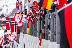 02.03.2019, Seefeld, AUT, FIS Weltmeisterschaften Ski Nordisch, Seefeld 2019, Nordische Kombination, Langlauf, Team Bewerb 4x5 km, im Bild Fan Feature // Fan Feature during the Cross Country Team competition 4x5 km of Nordic Combined for the FIS Nordic Ski World Championships 2019. Seefeld, Austria on 2019/03/02. EXPA Pictures © 2019, PhotoCredit: EXPA/ Stefanie Oberhauser