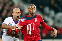 FOOTBALL - FRENCH LEAGUE CUP 2012/2013 - 1/8 FINAL - LILLE OSC v TOULOUSE FC - 30/10/2012 - PHOTO CHRISTOPHE ELISE / DPPI - AYMEN ABDENNOUR (TOULOUSE FC), SYLVIO RONNY RODELIN (LOSC)