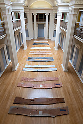 Exhibition by Lucy Skaer entitled Sticks and Stones at the Talbot Rice Gallery in University of Edinburgh,Edinburgh, Scotland, UK