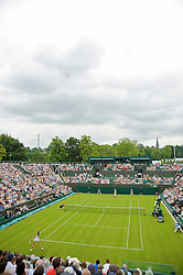 LONDON, ENGLAND - Monday, June 22, 2009: Laura Robson (GBR) loses 6-3, 4-6, 2-6 to Daniela Hantuchova (SVK) in the inaugural match on Court Number 2 during the 1st Round of the Ladies' Singles on day one of the Wimbledon Lawn Tennis Championships at the All England Lawn Tennis and Croquet Club. (Pic by David Rawcliffe/Propaganda)