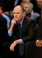 Feb. 2, 2011; Phoenix, AZ, USA; Milwaukee Bucks head coach Scott Skiles reacts from the bench against the Phoenix Suns at the US Airways Center. The Suns defeated the Bucks 92-77. Mandatory Credit: Jennifer Stewart-US PRESSWIRE