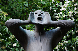 Sculpture in garden at Kathe Kollwitz Museum in Charlottenburg in Berlin Germany