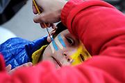 20180607/ Javier Calvelo - adhocFOTOS/  MONTEVIDEO/  ESTADIO CENTENARIO/ La selecci&oacute;n de Uruguay se despide de sus hinchas previo al viaje a disputar el Mundial FIFA Rusia 2018 con un encuentro amistoso ante Uzbekist&aacute;n en el Estadio Centenario<br /> En la foto: Hinchas de Uruguay durante la Fan Fest en el Centenario durante el partido despedida hacia el mundial de Rusia 2018. Foto: Javier Calvelo / adhocFOTOS