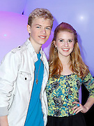 Kenton Duty and Caroline Sunshine attend the Disney Kids and Family Upfront 2011-12 at Gotham Hall in New York City on March 16, 2011.