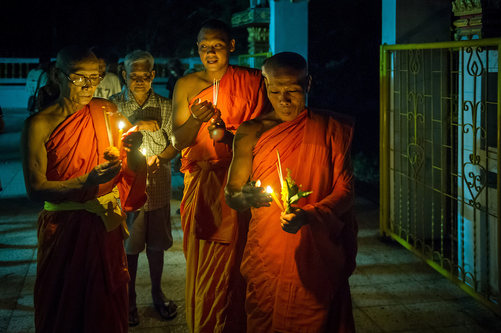 Visakha Puja Day (the day of Buddha's birth) is celebrated in rural Nakhon Nayok, Thailand. PHOTO BY LEE CRAKER